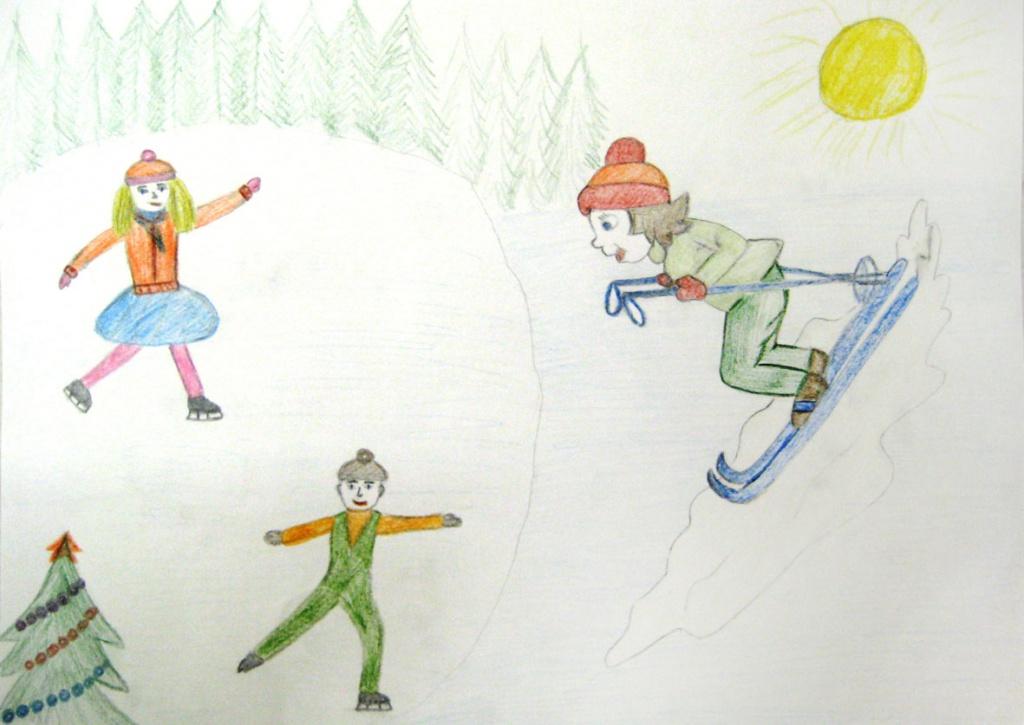 детские рисунки на тему безопасный