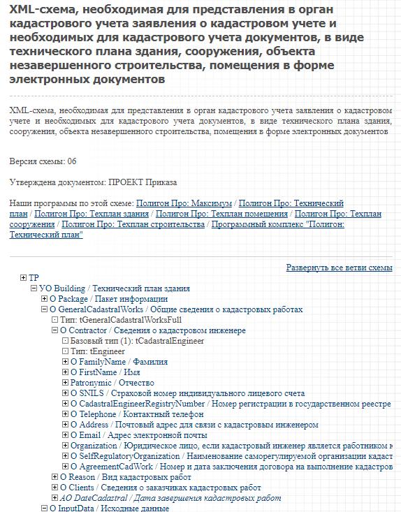 Xml схема технического плана здания