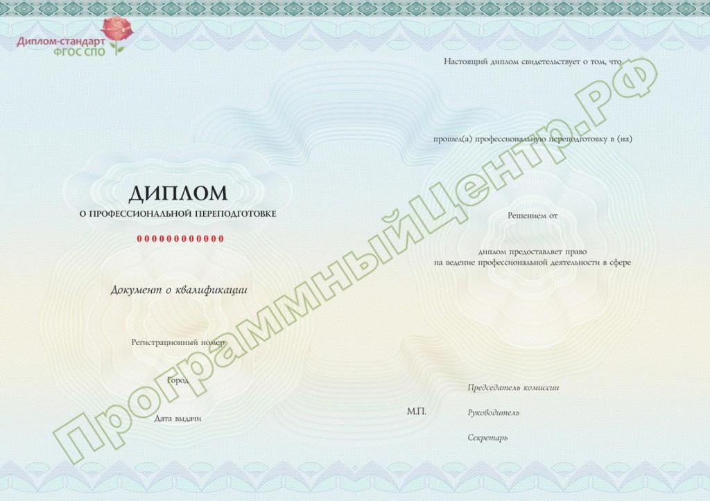 Диплом стандарт ФГОС СПО 7n m jpg