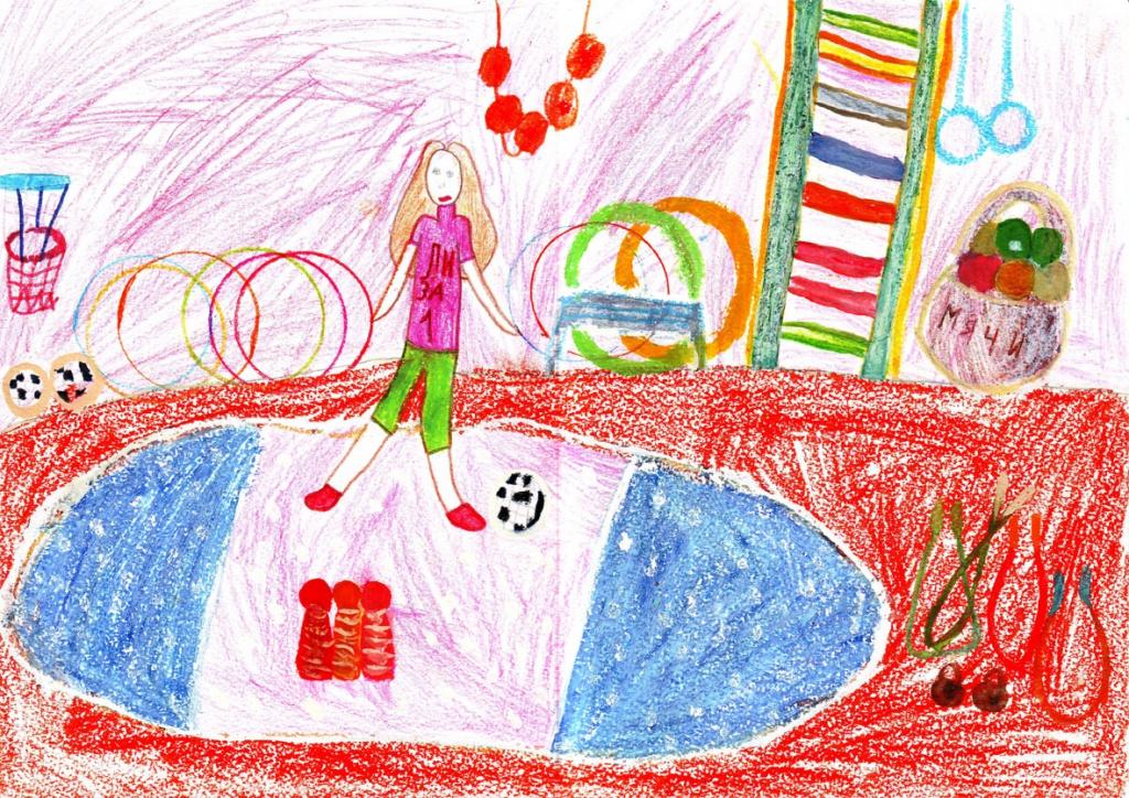 детские рисунки на тему здоровья и спорт